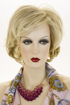 Lt Ash Blonde & Lt Nat Blonde Nat Blonde Nape Blonde Medium Short Lace Fron Wigs - $172.34