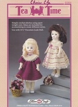 Tea Time, Fibre Craft Doll Clothes Crochet Pattern Booklet FCM214 - $2.95