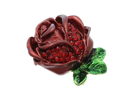 Austrian Crystal Red Rose Pin & Brooch - $12.95