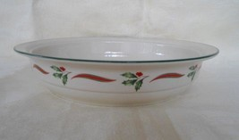 "Lenox Country Holly Round Vegetable Serving Bowl Christmas 9 3/4"" - $36.45"