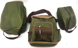 Lot of 3 Golf Accessory Bags: Shoe, Tote, & Ball? Carry Bag Green Shoulder  - $534,91 MXN
