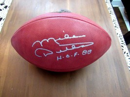 MIKE DITKA NFL HOF 88 CHICAGO BEARS TE SIGNED AUTO THE DUKE WILSON FOOTB... - $217.79