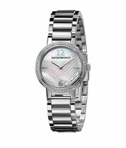 Emporio Armani AR0746 Classic Silver Stainless Steel Womens Watch - £86.57 GBP