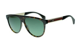NEW Gucci Seasonal Icon GG0462S 003 Havana Frame Green Sunglasses 58mm - $193.03