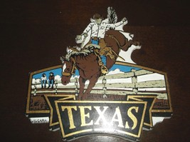 State of TEXAS Rubber Refrigerator Magnet - Cowboy on a Bucking Horse ~ ... - $5.99