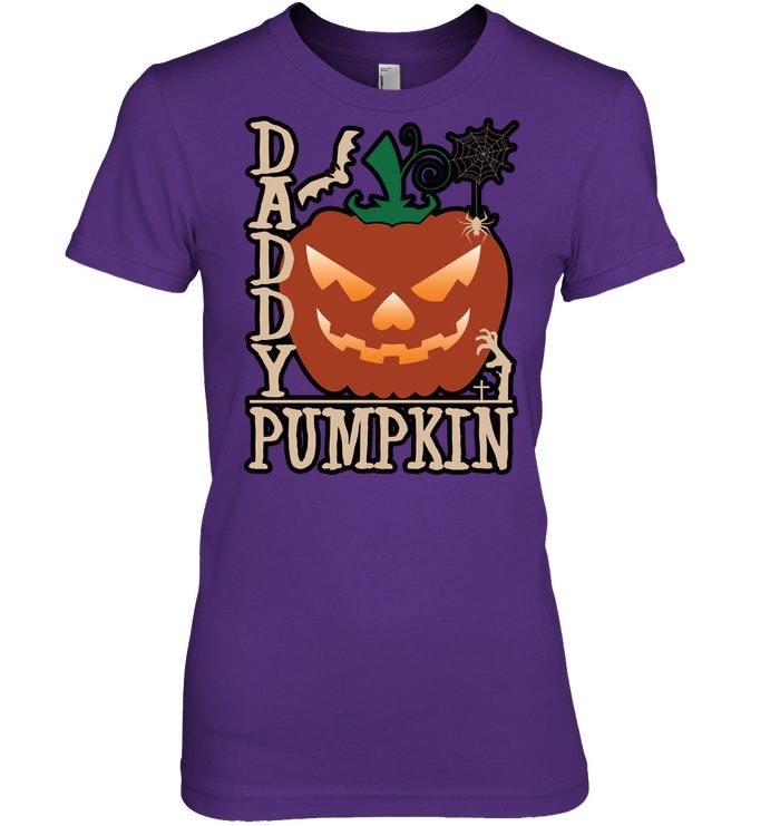Funny Halloween Tshirt Daddy Pumpkin Jack O Latern