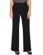 Calvin Klein Women's Tab Front Hardware Wide Leg Dress Pants, 12, Black - $43.00