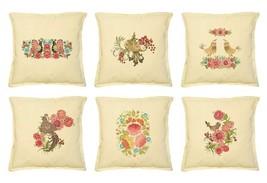 Birds & Flowers Printed Khaki Decorative Pillows Cushion Case VPLC_02 Si... - $10.50