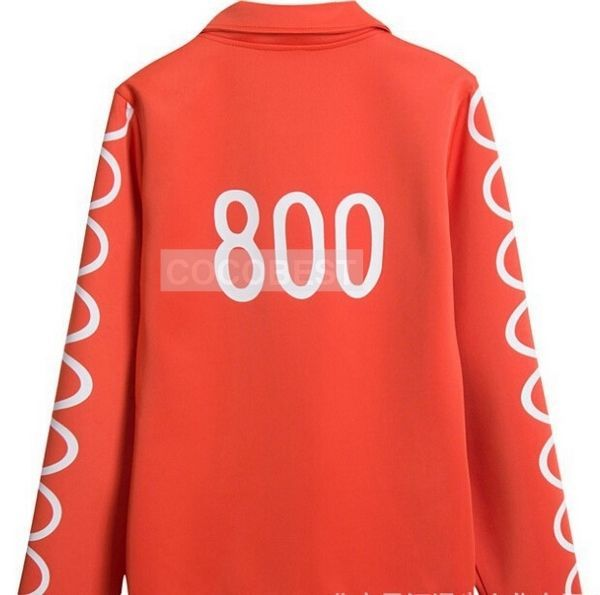 Anime One Piece Usopp Hoodies Coat Clothing Cosplay Costumes Halloween orange