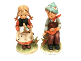 Vintage Ercih Stauffer Figurines Young Folks S8515 Pair - $22.00