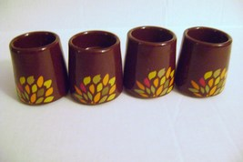 Fall Ceramic Decorated Candle Holders - $10.00