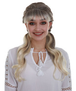 Women's Blonde Color Straight Medium Length Pigtails Trendy Sassy School... - $18.85