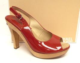 MICHAEL KORS Size 6.5 Red Patent Slingback Heel... - $68.00