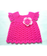 Crochet PATTERN Baby Dress, pink baby dress tutorial, emailed to you PDF... - $1.49