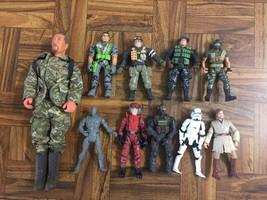 Mixed Lot of 10 Various Boys Toys ACTION FIGURES GI Joe Lanard Star Wars... - $41.58