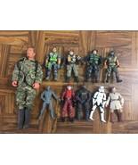 Mixed Lot of 10 Various Boys Toys ACTION FIGURES GI Joe Lanard Star Wars... - $39.60