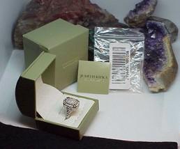 Judith Ripka Sterling Oval 14k Gold Clad Diamonique Ring Sz 8 Hearts New... - $168.29
