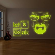 "( 79"" x 50"" ) Glowing Vinyl Wall Decal Breaking Bad Heisenberg Quote/ Glow in Da - $243.09"