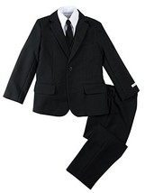Spring Notion Boys' Modern Fit Black Dress Suit Set 5 - $53.42