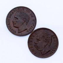 Lot of 2 Italian Coins 1900-R and 1904-R 1 Centesimo AU - UNC Condition - $59.39
