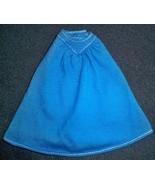 Vintage 80s Barbie Western Style A-Line Dark Blue Skirt White Top Stitch... - $19.75