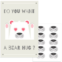 Bear Hug Pin The Nose Birthday Party Game - $21.29