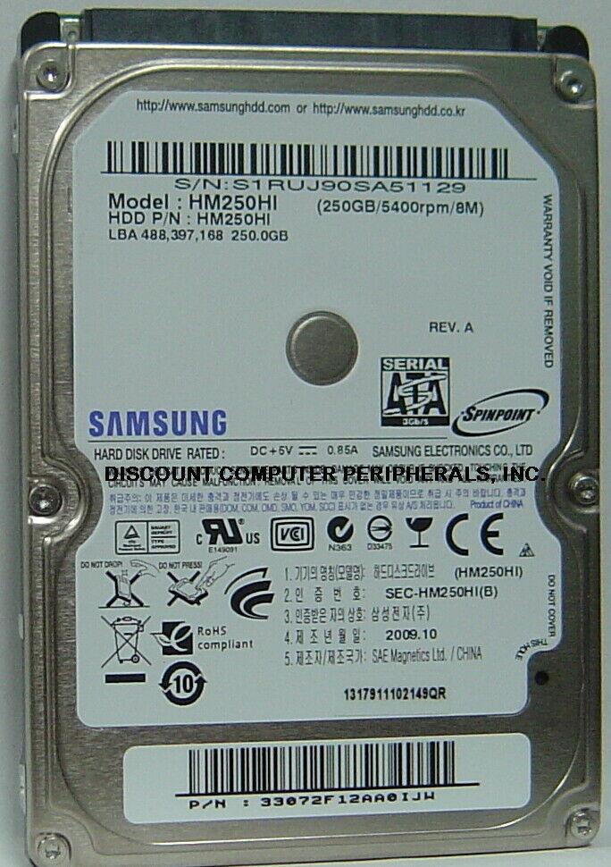 NEW HM320JI 320GB 2.5in SATA 7200RPM Samsung 9.5MM Hard Drive Free USA Ship