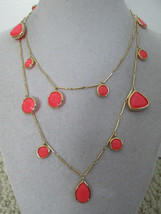 """NWT $128 Kate Spade Twinkle Lights Pink Gold Scatter Charm 32"""" Long Necklace - $49.49"""