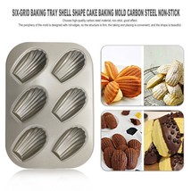 Six-Grid Baking Tray Shell Shape Cake Baking Mold DIY Mold Baking Tool C... - $18.69