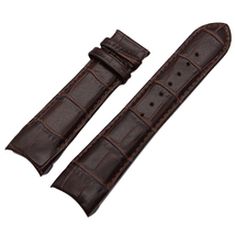 BROWN Curved Genuine Leather Watch Band Tissot T035 NO BUCKLE T035439, T... - $33.99