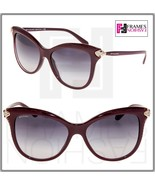 BVLGARI Serpenti BV8188B Bordeaux Purple Gold Crystal Gradient Sunglasse... - $267.30