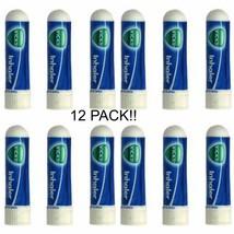 12 PACK .5ml Vicks Inhaler Allergy Cold Nasal Blocked Nose Congestion US... - $24.00