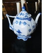 Royal Copenhagen Blue Fluted Full Lace Gargoyle Teapot - $832.59