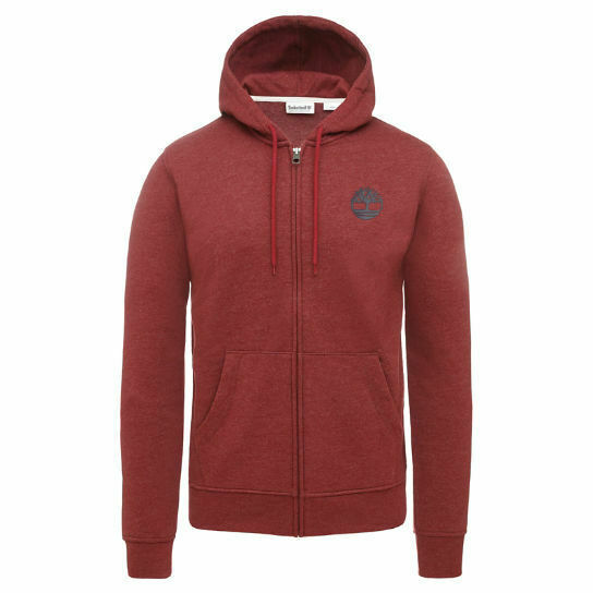 Primary image for TIMBERLAND A1MQQ-M50 MEN'S BURGUNDY FULL ZIP HOODIE