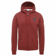 TIMBERLAND A1MQQ-M50 MEN'S BURGUNDY FULL ZIP HOODIE - $49.19