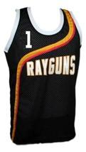 Baron Davis #1 Roswell Rayguns Basketball Jersey Sewn Black Any Size image 1