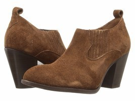 NIB Frye Ilana Slip on Brown Suede Boot Bootie Cuban Heel Boot 8 M NEW I... - $69.95