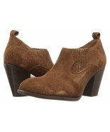 NIB Frye Ilana Slip on Brown Suede Boot Bootie Cuban Heel Boot 8 M NEW I... - $69.95