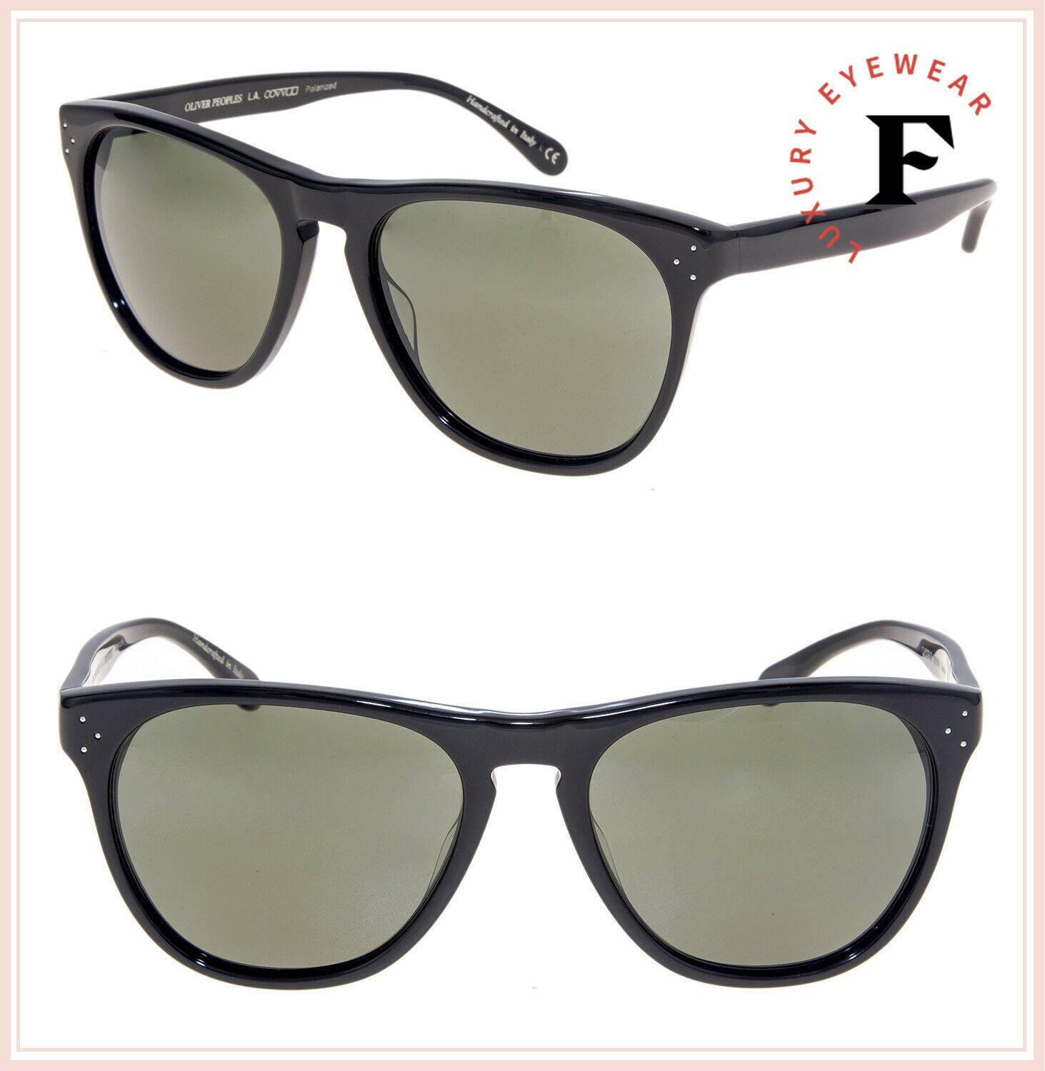 Oliver Peoples 5091 DADDY B Black Green Polarized Vintage Sunglasses OV5091S