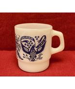 Vintage Fire King mug E Pluribus Unum eagle national Great Seal Anchor H... - $10.00