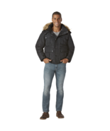 Rocawear Men's Big Hooded Bomber Jacket Black 5X #NPBJU-P11 - $41.49