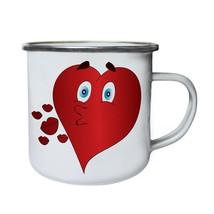 New Heart Kisses Retro,Tin, Enamel 10oz Mug l512e - $13.13