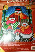 Sugarplum Express Janlynn Greeters Plastic Canvas Snow Family SGP-1427 New - $27.21