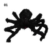 1PCs Fake Spider Prank Gift New Halloween Horrible Big Black Furry Spider Decor image 7