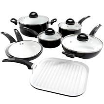 Oster Herstal 11 Piece Aluminum Cookware Set in Black - $114.26