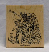 Stampin' Up! Angel with Trumpet Rubber Stamp Wood Mounted 2005 - $3.99