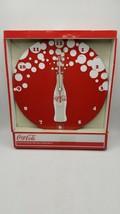 """Coca-Cola Brushed Aluminum Bubble Burst 12"""" Wall Clock - New - $17.77"""