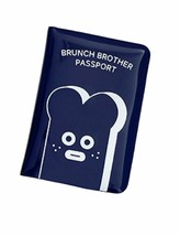 Brunch Brother Enamel Travel Passport Case Cover Holder (Toast Navy)