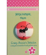 Black Ant Solid (facing right) Needleminder fabric cross stitch needle a... - $7.00