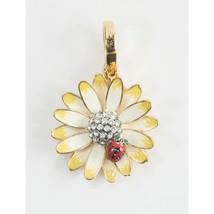 Juicy Couture CZ Crystal Daisy LadyBug FULL SIZE Large Gold Bracelet Cha... - $53.96